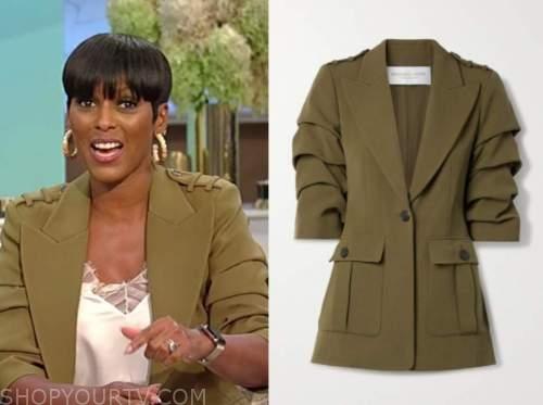 Tamron Hall, Tamron Hall show, green military jacket