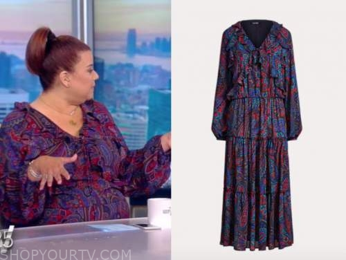 the view, Ana Navarro, red and blue paisley dress