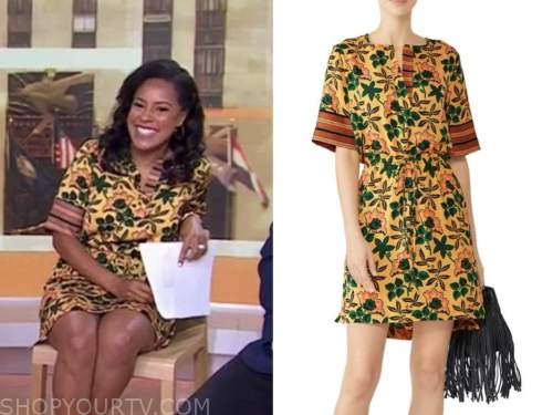 Sheinelle Jones, the today show, yellow floral dress