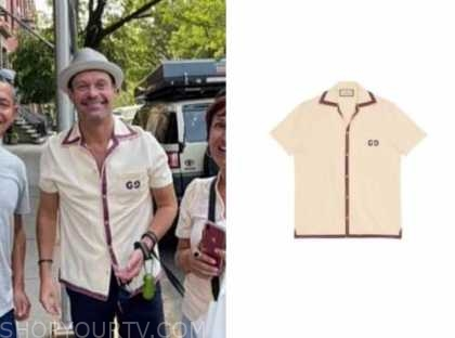 Ryan Seacrest, bowling shirt, live with kelly and Ryan