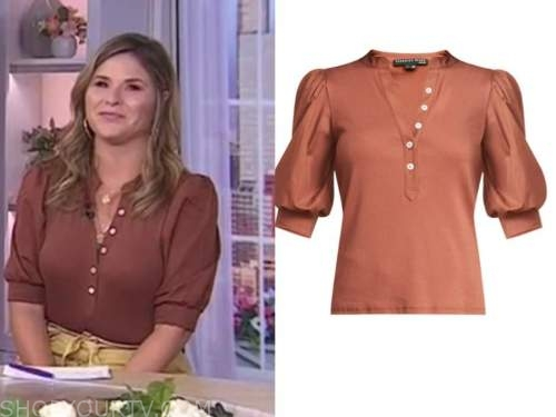 Jenna bush hager, the today show, rust brown top