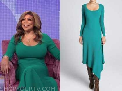 Wendy Williams, the Wendy Williams show, green knit dress