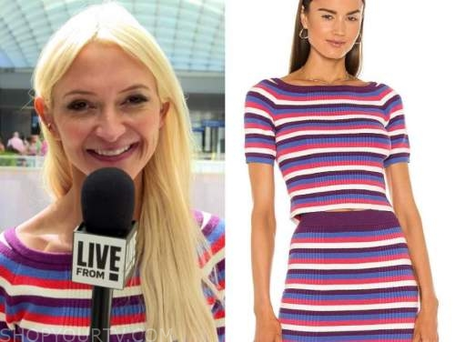 E! news, daily pop, Zanna Roberts rassi, striped boatneck knit top,