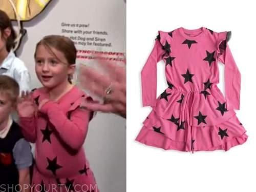 river rose, Kelly Clarkson show, pink star print ruffle dress