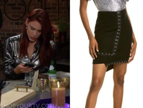 sally spectra, Courtney hope, black skirt, the young and the restless