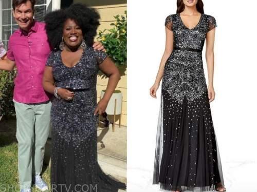 Sheryl underwood, the talk, black sequin gown