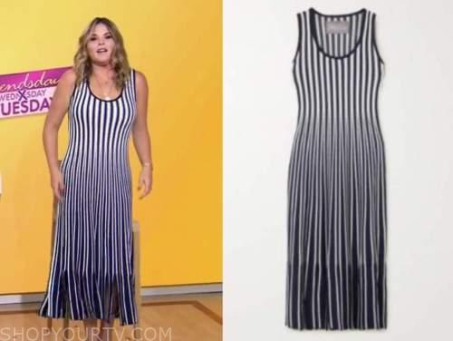 Jenna bush hager, striped knit midi dress, the today show