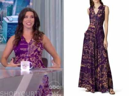 Mary Katharine ham, the view, purple floral dress