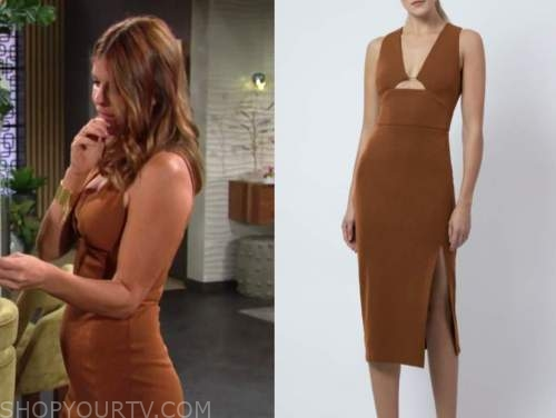 Phyllis newman, Michelle stafford, the young and the restless, bronze sheath dress