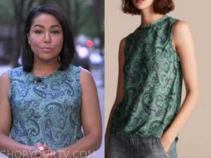 Stephanie Ramos, good morning america, green paisley top