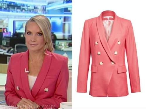 dana perino, America's newsroom, coral pink double breasted blazer