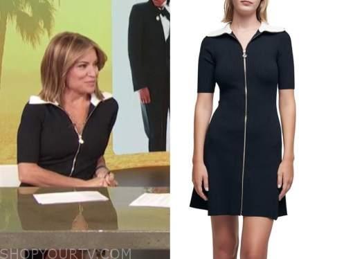 kit hoover, access daily, black knit zipper dress