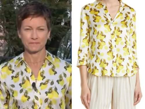 Stephanie gosk, the today show, lemon shirt
