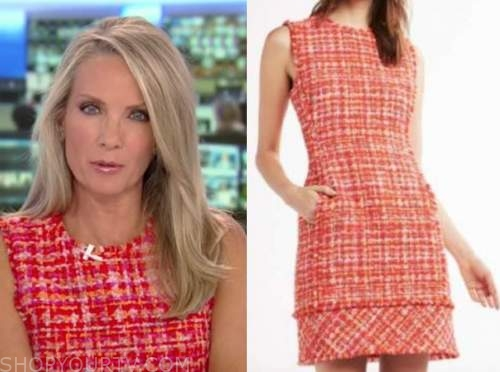 dana perino, America's newsroom, red tweed dress