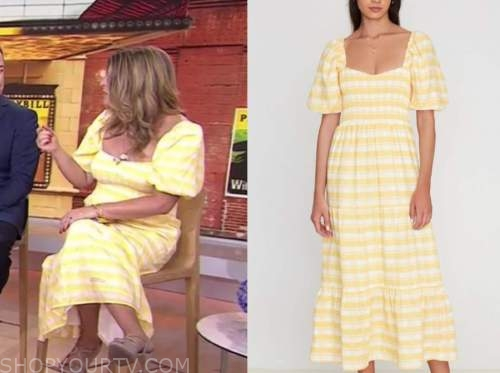 the today show, Jenna bush hager, yellow striped dress