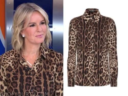 dr. Jennifer Ashton, good morning america, brown leopard shirt