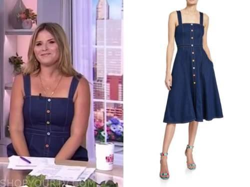 Jenna bush hager, the today show, denim dress