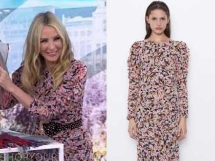 chassie post, the today show, floral ruched dress
