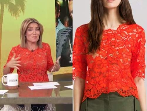 Kit Hoover, access daily, red lace top