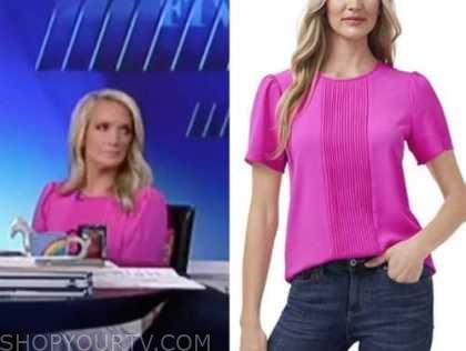 the five, Dana Perino, pink pleated top