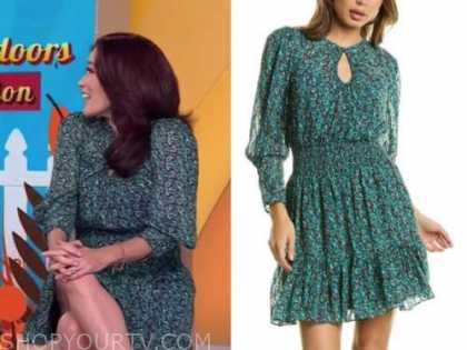 Amy goodman, the today show, green printed dress