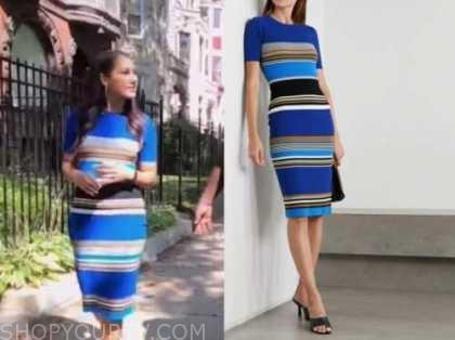 Morgan Radford, the today show, blue striped knit dress