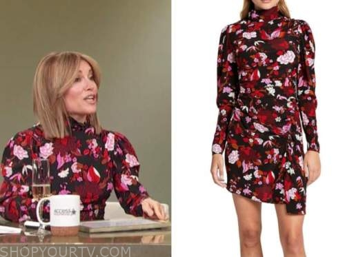 Kit Hoover, floral turtleneck dress, access daily