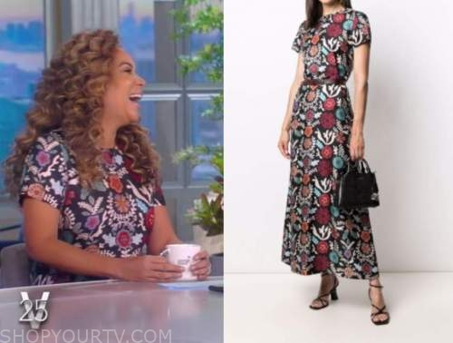 Sunny Hostin, the view, floral maxi dress