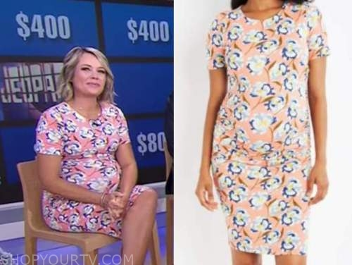 Dylan Dreyer, the today show, coral floral maternity dress