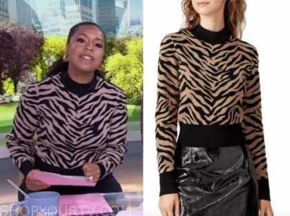 Sheinelle Jones, the today show, zebra sweater