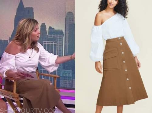 the today show, Jenna bush hager, white top, brown skirt
