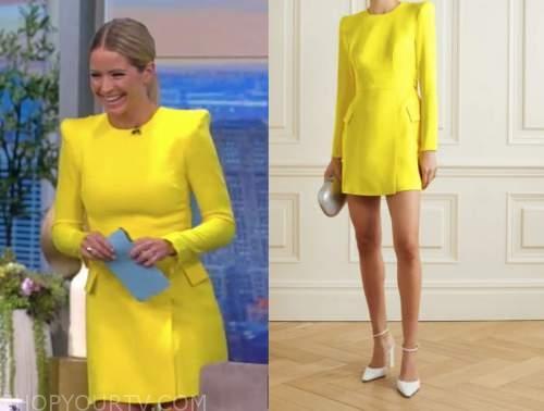 Sara haines, yellow dress, the view
