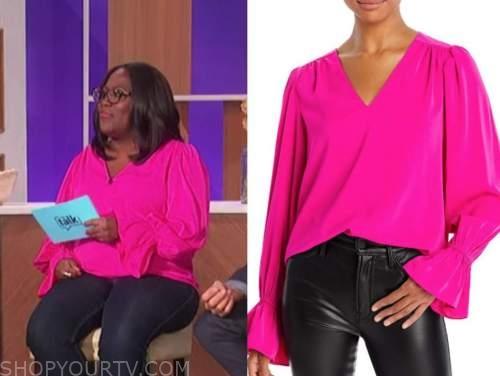 Sheryl underwood, the talk, pink blouse