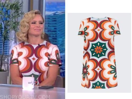 the view, sara haines, floral swing dress