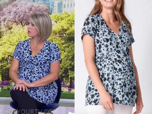 dylan dreyer, the today show, blue floral maternity top