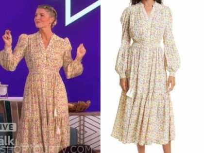 amanda kloots, the talk, floral midi dress