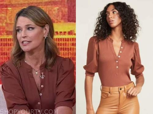 savannah guthrie, the today show, brown rust top