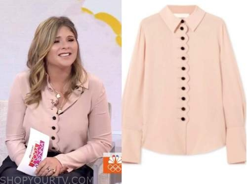 jenna bush hager, the today show, pink scallop shirt