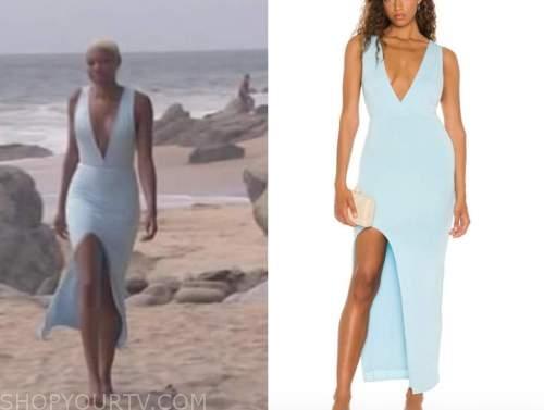 chelsea vaughn, bachelor in paradise, blue midi dress