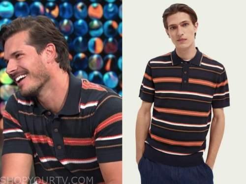 gleb savchenko, E! news, daily pop, striped polo shirt, dwts