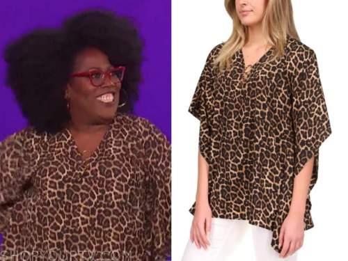 sheryl underwood, the talk, leopard poncho top
