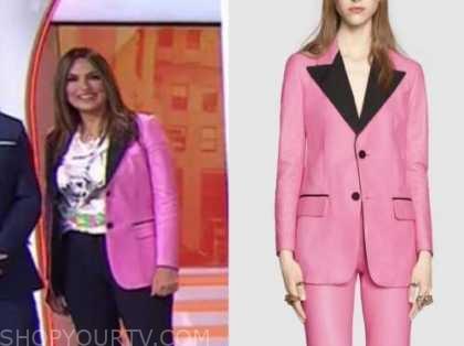 mariska hargitay, the today show, pink leather blazer