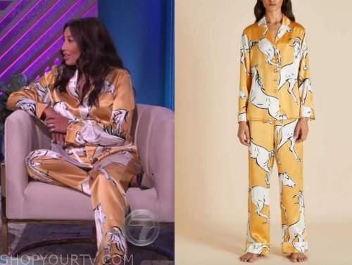 jeannie mai, the real, horse print pajamas