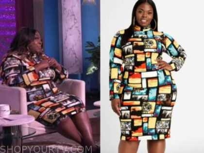 loni love, abstract printed dress, the real