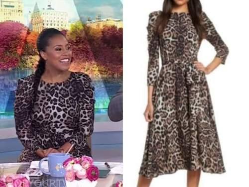 sheinelle jones, the today show, leopard midi dress