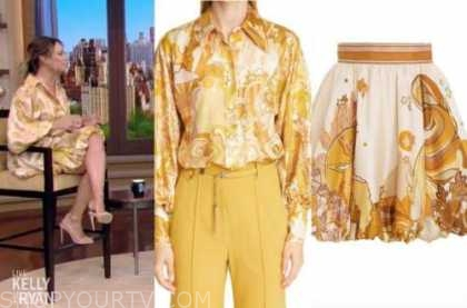 live with kelly and ryan, vanessa lachey, paisely shirt and skirt