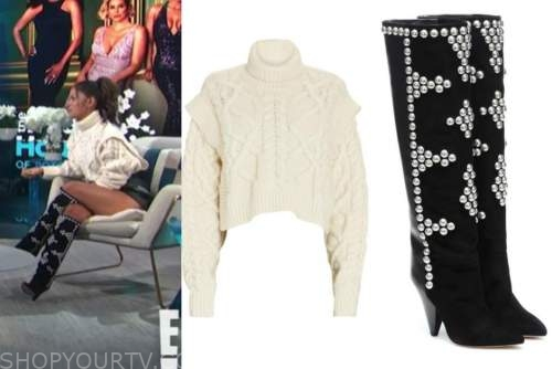 rosci diaz, E! news, daily pop, cable knit sweater, studded boots