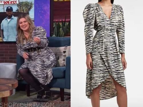 kelly clarkson, the kelly clarkson show, zebra dress
