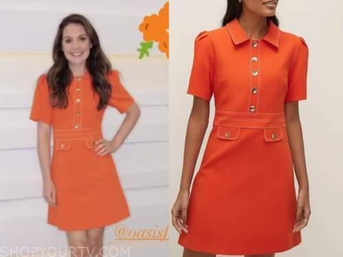 laura tobin, orange dress, good morning britain