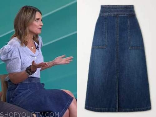 savannah guthrie, the today show, denim skirt